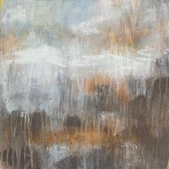 """Translation No. 9 of ""Les Follies d'Espagne"", acrylic, landscape, grey, rust"