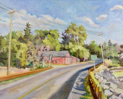 """""""It's a Long Road Home"""", oil painting, high chroma, landscape, vibrant, nature"""