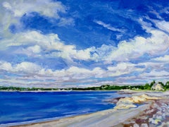 """The Neck I, Marblehead"", oil painting, seascape, landscape, expressive, vibrant"