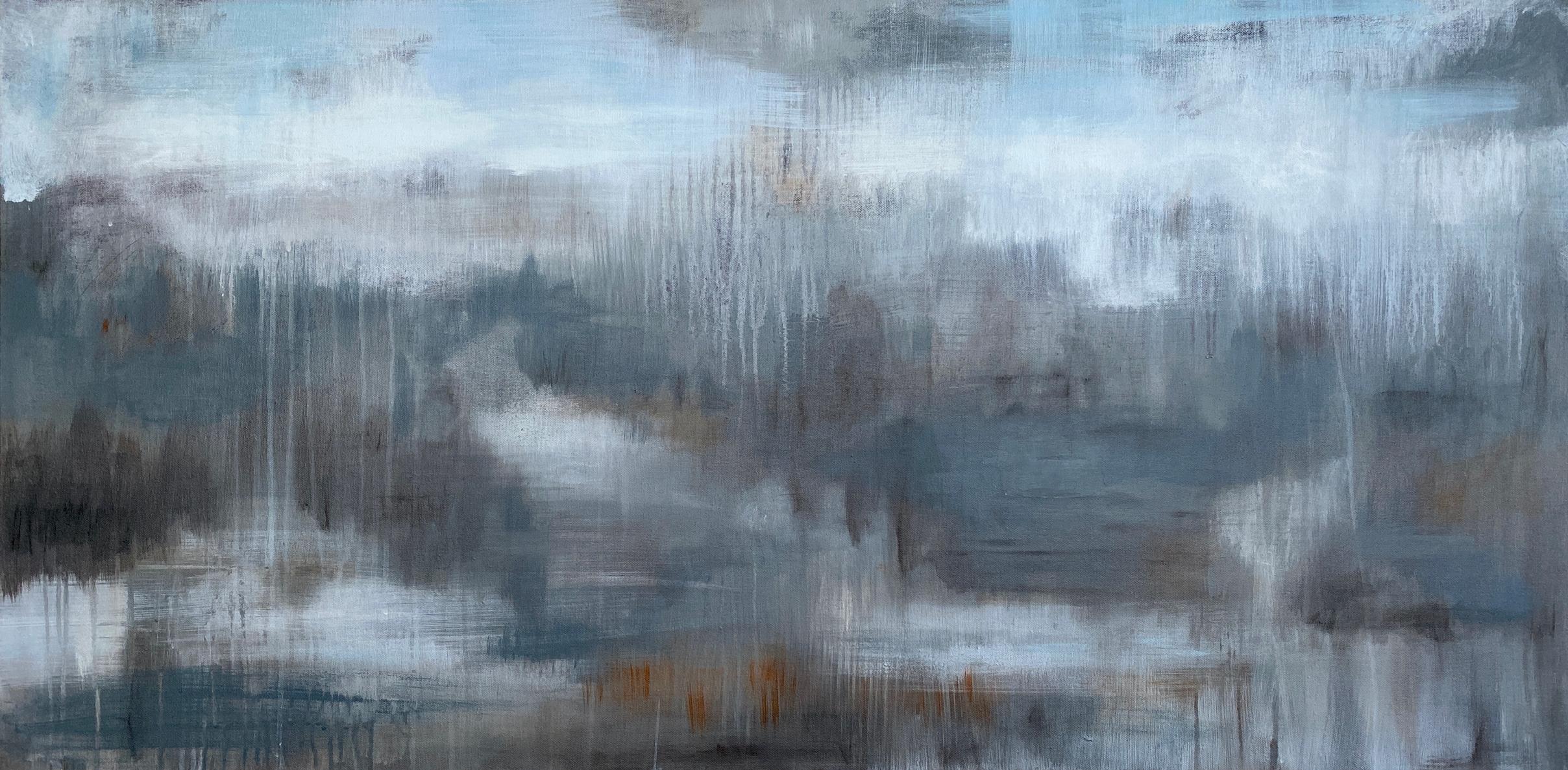 """""""Translation of 'Les Folies d'Espagne' (M. Marais)"""", acrylic painting, landscape"""