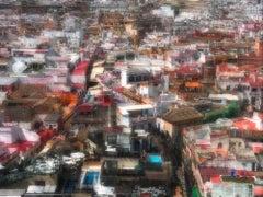 """""""Seville"""", photograph, landscape, Spain, city, urban, reds, whites, oranges"""