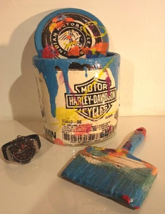 Ray Gross's Famous Paint Can and Brush Sculpture