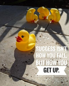 Success Isn't How You Fall, But How You Get Up