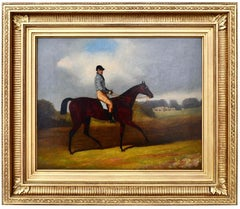 Horse and Jockey in the Countryside