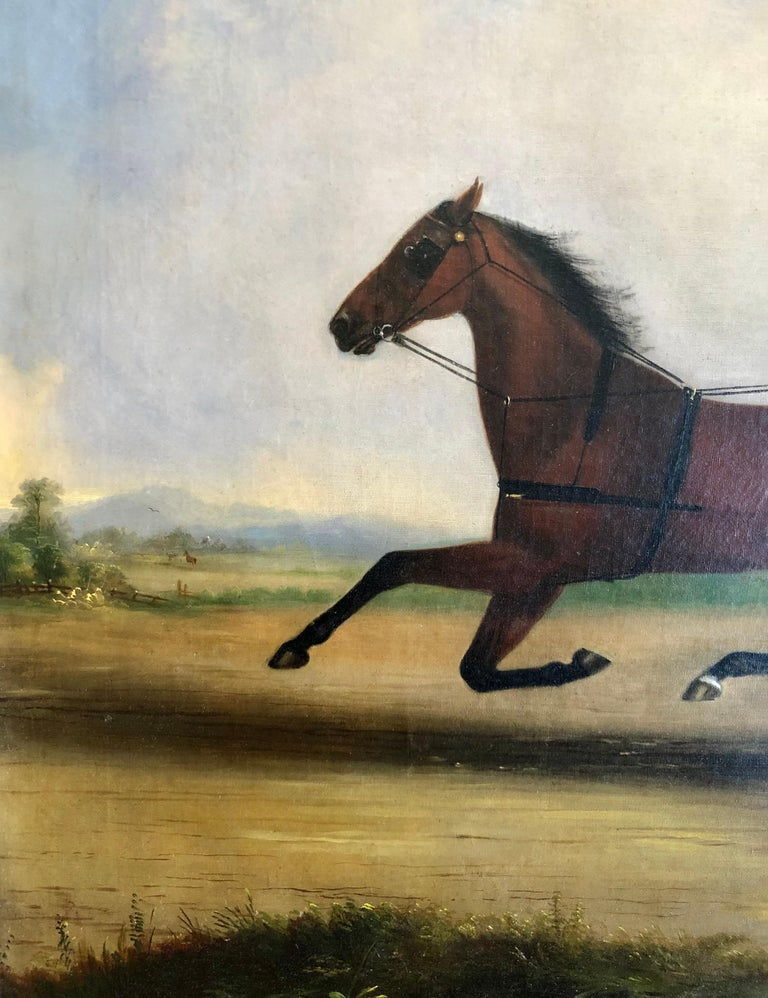 The Quick Trotter - Brown Animal Painting by Thomas Kirby Van Zandt