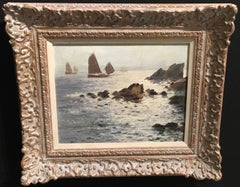 English Impressionist Cornish coastal scene