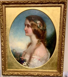 Spring, Portrait of a young English girl from the mid Victorian period.