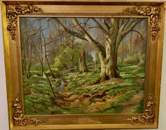 Danish Impressionist early 20th century wooded landscape