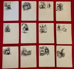 Original pen and ink illustrations for Charles Dickens 'The Pickwick Papers'