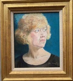 Modernest English mid century portrait of a Blonde lady