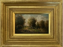 19th century French forest landscape near Barbizon and Fontainebleau