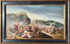 17th century Italian Horse Battle scene between Crusaders and their enemy