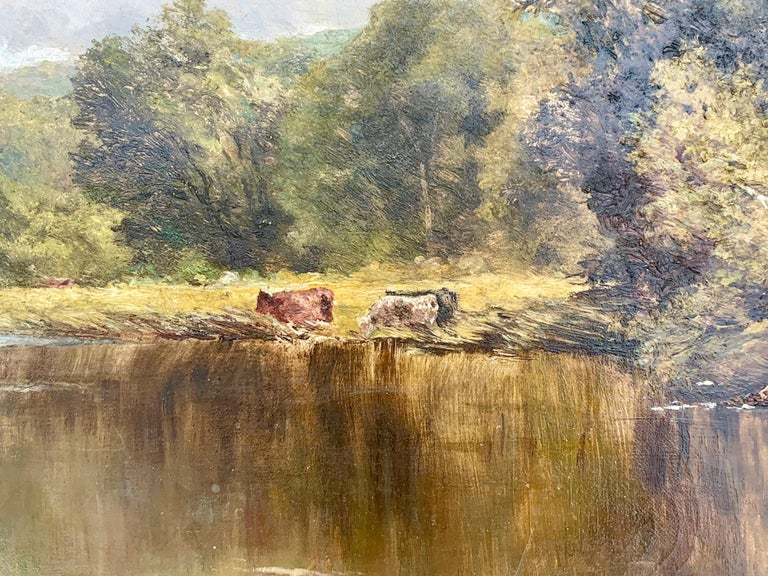 This is an outstanding example of the artist's work. He was able to capture the essence of the English Riverside landscape. This piece came from a private collection in the UK. Bio on the artist;  Born in 1858, Henry H. Parker was a British artist