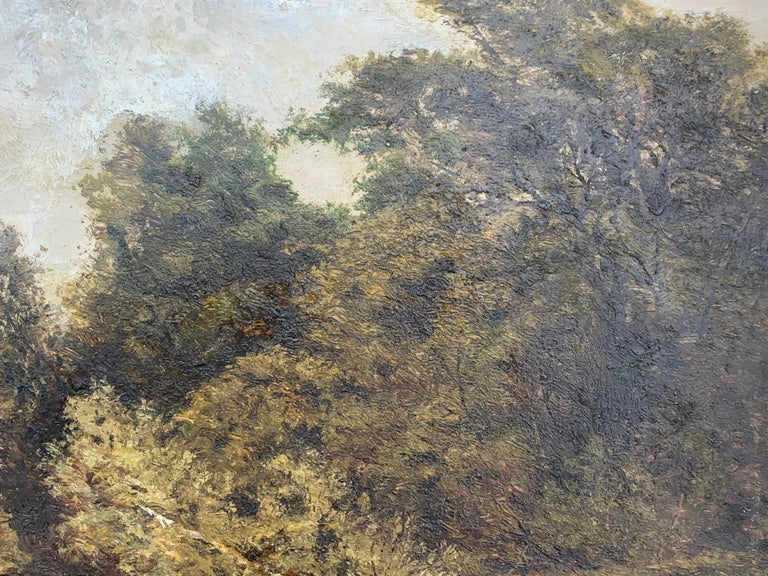 An English Victorian 19th century River Landscape , with cattle and trees For Sale 1