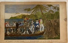 English 18th century of Captain Cook in Mallicolo and Erramanga, New Hebrides