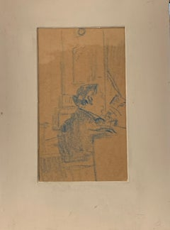 Early 1900s Portrait Drawings and Watercolors