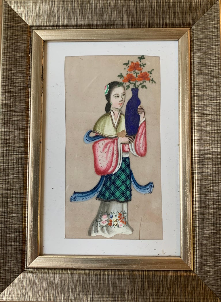 19th Century Chinese school Portrait - Set of 6 19th century Chinese school men and women figure portraits