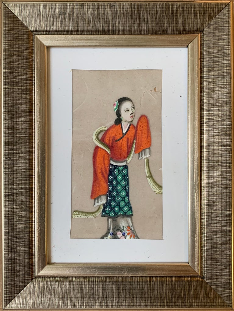 Set of 6 19th century Chinese school men and women figure portraits - Victorian Art by 19th Century Chinese school
