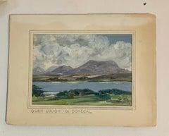 Irish mid century landscape of Glen Lough, Co. Donegal