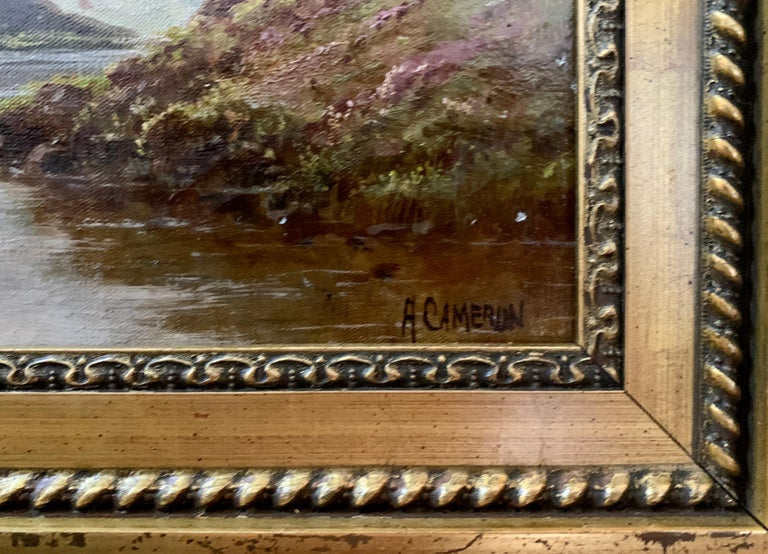 Scottish or Welsh 19thC Highland River landscape, with heather and Aspen trees For Sale 3