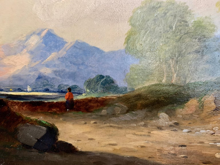 Landscapes with trees, pair of English or Irish 19th century landscapes For Sale 3