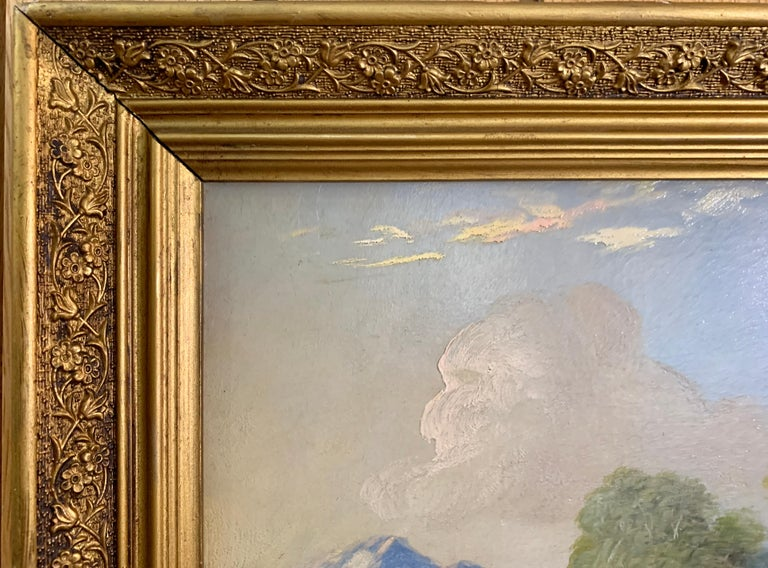 Landscapes with trees, pair of English or Irish 19th century landscapes For Sale 4