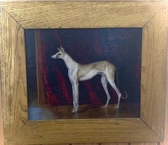 19th century French Portrait of a Saluki or Borzoi or Gray Hound, Le Grand Duc