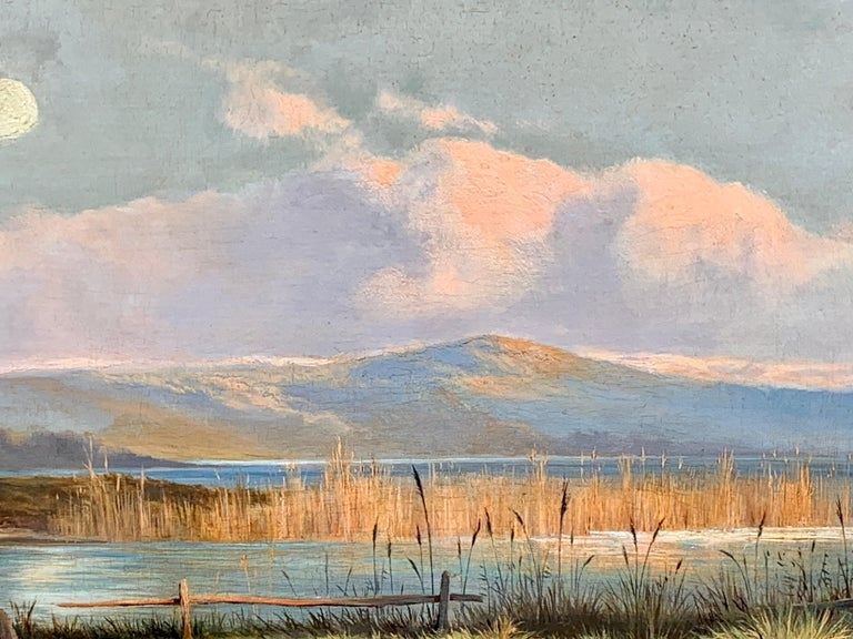 This is a classic Victorian Genre landscape with a courting couple in a Highland setting.   Painted circa 1880 the subject would have been a very popular narrative due to the increasing interest in all things Scottish after the Royal Families buying