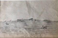 A view of Bridgetown, Barbados with the U.S.S Shamokin 1868