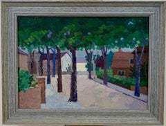 20th century English Impressionist town scene, possibly France