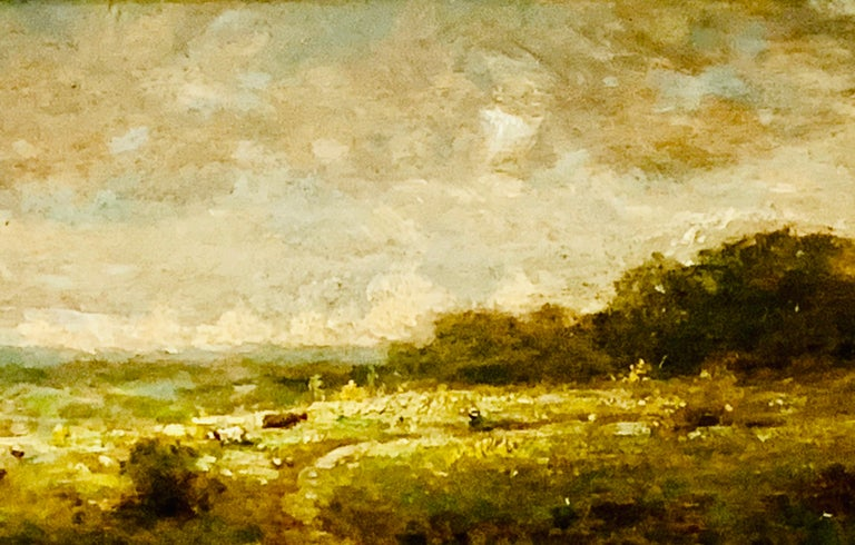 19th century French forest landscape near Barbizon and Fontainebleau - Painting by Attributed to Narcisse Virgilio Diaz de la Pena