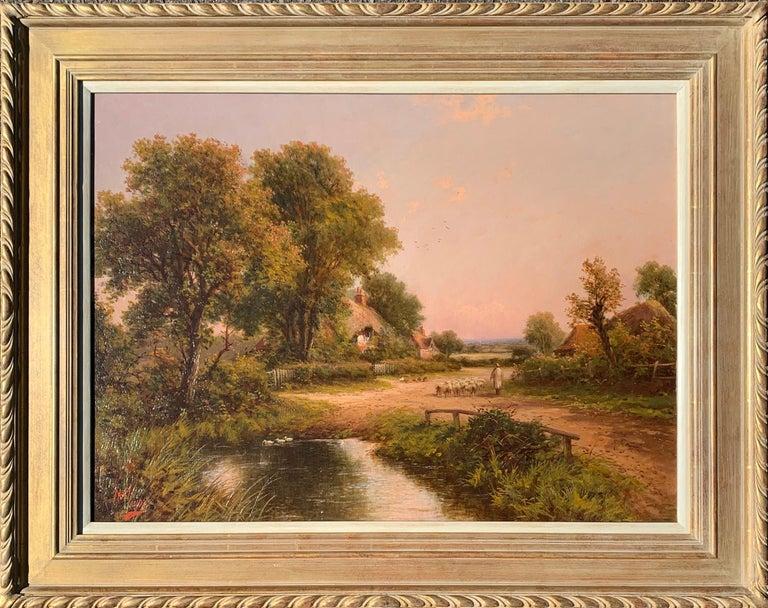 Henry Maidment Landscape Painting - 19th Century Victorian English cottage landscape