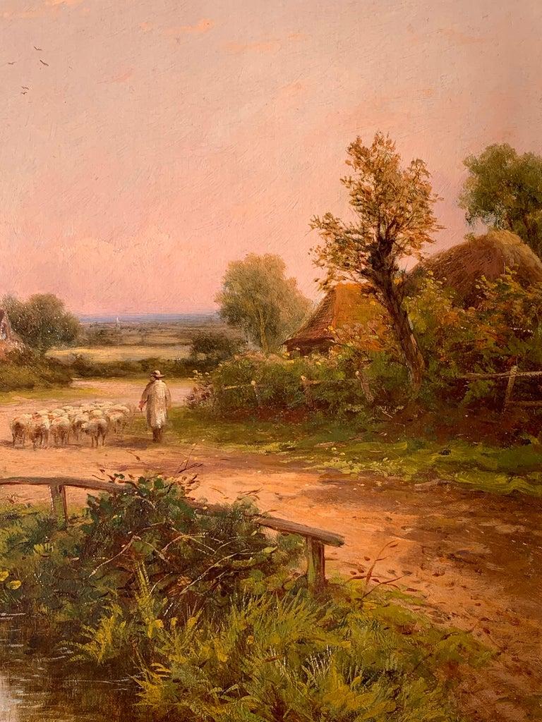 19th Century Victorian English cottage landscape For Sale 2
