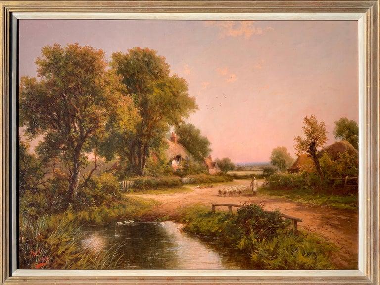 19th Century Victorian English cottage landscape For Sale 3