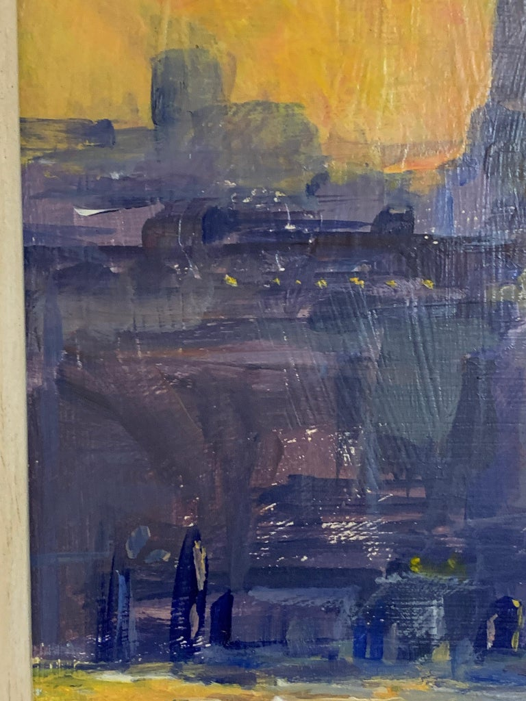 English Impressionist View from the Thames River of St. Pauls at Sunset London For Sale 1