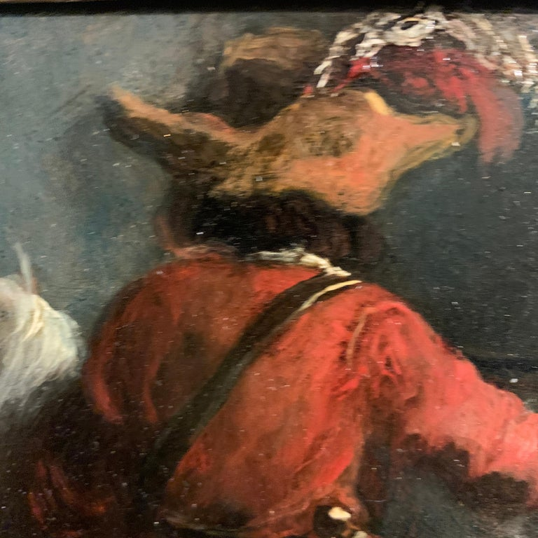 Dutch or Flemish early  18th Cavalier horseman on horse back old master For Sale 2