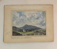 Irish mid century river landscape, Muckish, Co. Donegal