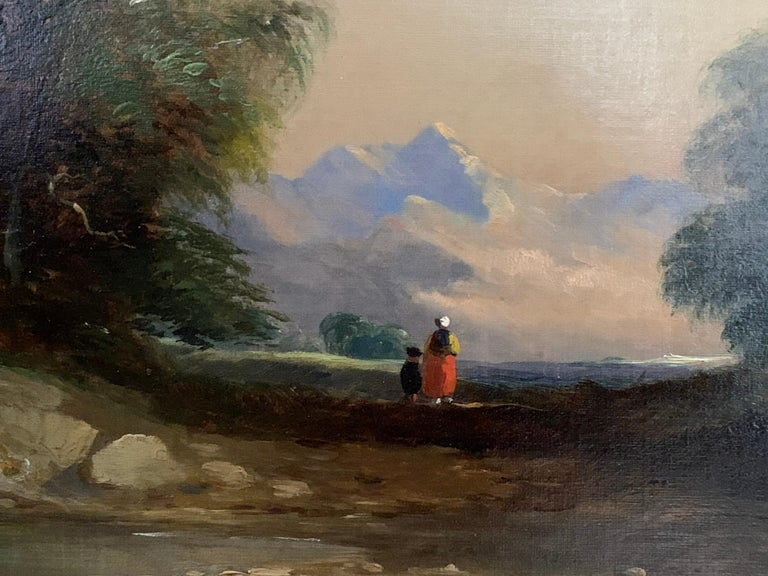 Landscapes with trees, pair of English or Irish 19th century landscapes - Victorian Painting by Follower of James Arthur O'Connor