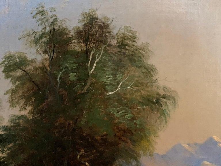 Landscapes with trees, pair of English or Irish 19th century landscapes - Brown Landscape Painting by Follower of James Arthur O'Connor