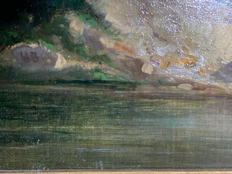 Pair of English or Irish 19th century landscapes in a similar style to the work of James Arthur O,Connor  O'Connor was a well known Irish landscape painter from the early part of the 19th century. His work is often of an extensive landscape with a