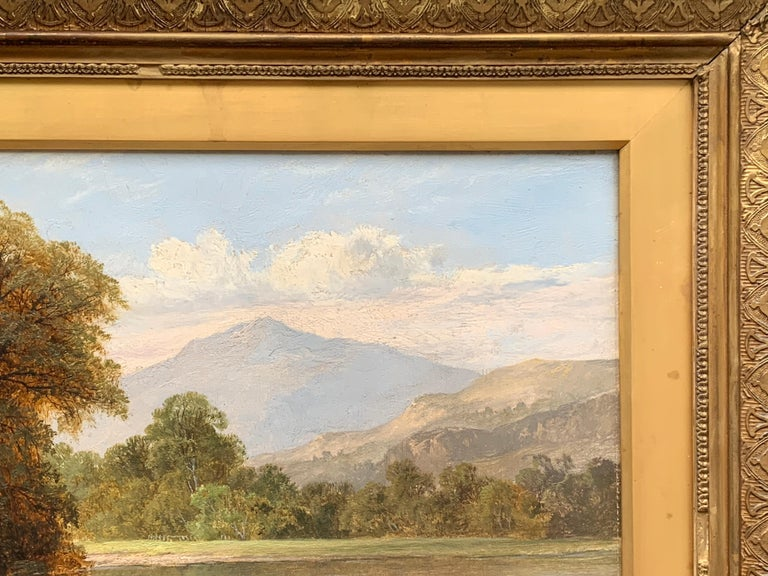 English River Landscape with fisherman, 19th century, in Dolgellau, North Wales For Sale 5