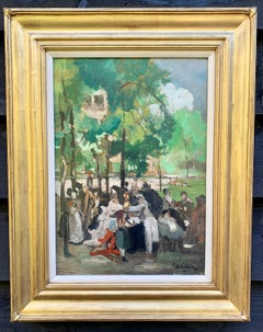 19thC German Impressionist, At the Chinese tower in the English garden in Munich