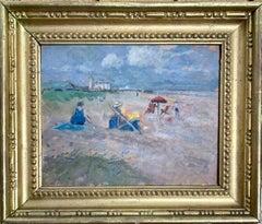 English Impressionist 20th century, Figures on a beach, Great Yarmouth,England