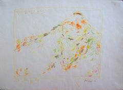 Cortina - Pastel-Drawing, Color Pencil, Paper, 1960's, Music, Moving