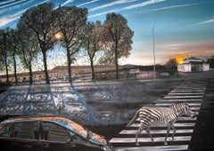 Zebra Crossing - Urban Landscape, Painting, Oil/Canvas, Photorealism,