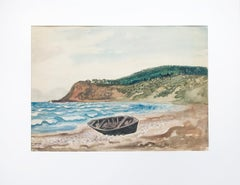 Boot am Strand von Hiddensee (Boat at the Beach of Hiddensee) - Watercolor