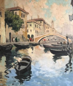 Venice Canal, Impressionist Oil Painting