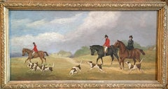 The Hunt (part 4), Victorian British Oil Painting, Signed