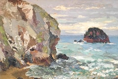 Gull Rock, Cornwall, Impressionist Landscape, Original Oil Painting