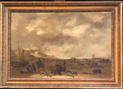 The Fish Market, 17th Century Dutch Old Master oil painting